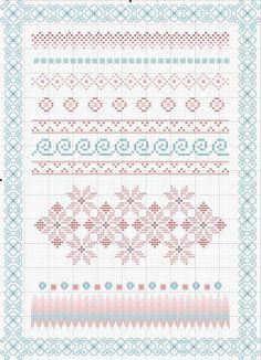 Borders - free cross stitch pattern