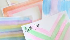 Assorted watercolor painted note cards