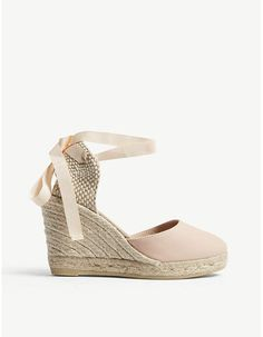 9aee2c818af Soludos Tall Lace Up Espadrille Wedge Sandals