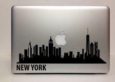 Macbook Decal new york skyline  Macbook Stickers by piksyprint, $5.90