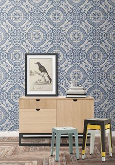 Perfect for kitchen and living areas this wallpaper is a spirited faux tile pattern. It's Mediterranean vibe is sure to renew and refresh your chosen space. This wallpaper is very tough and can suit a
