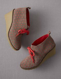 Wedge polka dot Desert Boots- OH BOY