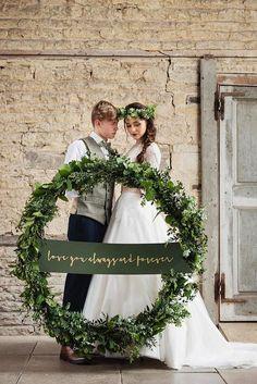 Budget Friendly Wedding Trend: Greenery Wedding Decor ❤ See more: http://www.weddingforward.com/greenery-wedding-decor/ #wedding #greenery #decor