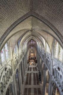 La nef de la Cathédrale Bourges vue à 36 mètres de haut