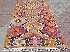 """Anatolia Turkish Antalya (Barak) Kilim 57"""" x 96,4"""" Area Rug Carpet Kilim Rug"""