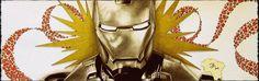 Iron Man, posca, crayons, stylos pigment liner.