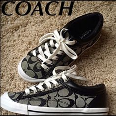 Coach Sneakers Black/gray coach sneakers. Brand new. No box. Coach Shoes Sneakers