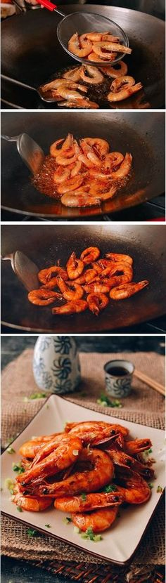 Shanghai Shrimp Stir Fry Recipe, 油爆虾 by the Woks of Life