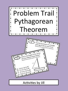 Problem trails are a great way to get kids out of their seats and moving around the room while learning!