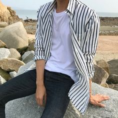 Korean Fashion Men, Boy Fashion, Mens Fashion, Fashion Outfits, Cool Outfits, Casual Outfits, Men Casual, Mode Man, Style Masculin