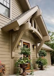 Craftsman Exterior Design Ideas, Pictures, Remodel and Decor Craftsman Exterior, Craftsman Style Homes, Craftsman Front Porches, Cottage Exterior, Exterior Siding, Door Overhang, Porch Roof, Side Porch, Porch Beams
