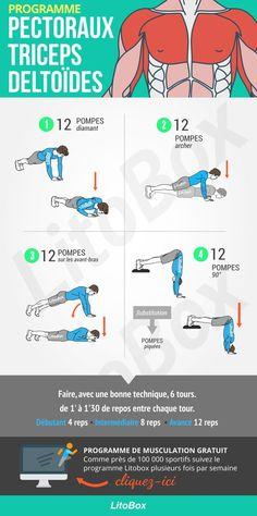 Musculation pectoraux, triceps et deltoïdes !