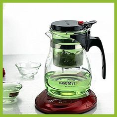 Kamjove Glass Kungfu Teaset Press AUTO-OPEN Art tea Cup Teapot with Infuser TP-757 700ml elegant style tea sets infuser de cha