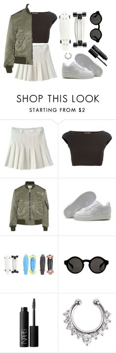 """""""IT GIRL"""" by baludna ❤ liked on Polyvore featuring Michael Kors, Yves Saint Laurent, Replika and NARS Cosmetics"""