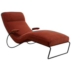 Vintage 1950s Chaise Longue | From a unique collection of antique and modern chaise longues at https://www.1stdibs.com/furniture/seating/chaise-longues/