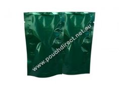 28G GREEN / GREEN - STAND UP POUCH WITHOUT ZIPPER / TEA PACKAGING POUCHES