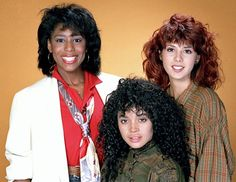Dawnn Lewis as Jaleesa Vinson Taylor Lisa Bonet as Denise Huxtable Marisa Tomei as Maggie Lauten Photo by NBCU Photo Bank Lisa Bonet, Dawnn Lewis, Jasmine Guy, Black Sitcoms, Face Framing Layers, The Cosby Show, World Tv, A Different World, Hair Photo