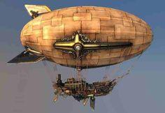 Afbeeldingsresultaat voor steampunk zeppelin