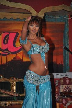 Didem Kinali : Blue Belly Dancing Costume