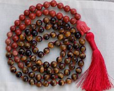 Chinese New Year Mala - Year of the Brown Dog - 108 bead mala necklace - prayer beads - japa mala http://etsy.me/2tq8Y1t #malanecklace #moonandstarmala