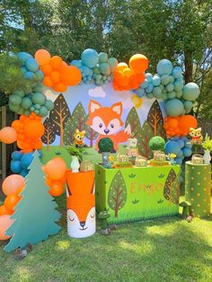 1st Birthday Boy Themes, Baby Boy 1st Birthday Party, Birthday Party Decorations, Fox Party, Fox Decor, Woodland Party, Party Ideas, Baby Shower, Instagram