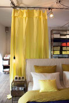 Linge de maison en lin coloré
