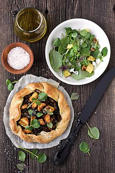 crispy mushroom, fingerling potato and blue cheese galettes