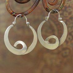 Large  Neo Tribal Hippie Hoop Earrings  sterling by BobsWhiskers, $59.00