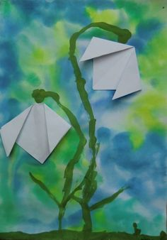 Chinese New Year Crafts For Kids, Spring Crafts For Kids, Diy For Kids, Easy Origami Flower, Kids Origami, Spring Art Projects, Projects For Kids, Christmas Angel Crafts, New Year's Crafts