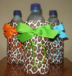 Designer Water Bottle Koozies NOW in Cheetah by doodlebugsga, $12.00