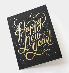 Shimmering New Year Available as a Single Folded Card or Boxed Set of 8