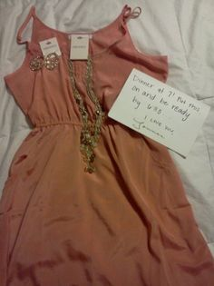 Every guy should do this for his girl at least once! Get her a cute outfit for a surprise date! Cute outfit & sweet of a guy.