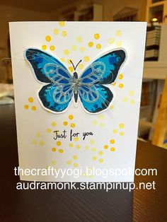 the crafty yogi: New Catalog Preview (3) water color wings, stampin up! Butterflies.
