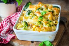 Chicken broccoli alfredo casserole sitting in a baking dish with toasty melted cheese on top and visible broccoli florets. Chicken Broccoli Alfredo, Broccoli Pasta, Broccoli Florets, Pesto Pasta Recipes, Easy Chicken Recipes, Easy Recipes, Pasta Casserole, Casserole Recipes, Keto Diet Fast Food