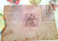 On Sale Wedding Place Table Mat  1920's by youruniquescrapbook, £4.50