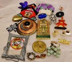 Auction Small Jewelry Mix Junk Lot Pieces Parts Pins Pendants See Pictures | eBay