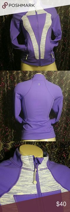 Ivivva jacket Lululemon jacket for girls. Size 12 and lavender color, with a light green outline on the chest. In very good conditon Ivivva Jackets & Coats