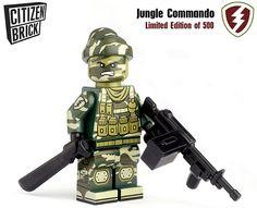 Custom LEGO printing by CitizenBrick Lego Custom Minifigures, Lego Minifigs, Lego Army, Lego Military, Lego Bed, Lego Zombies, Army Men Toys, Green Army Men, Board Skateboard