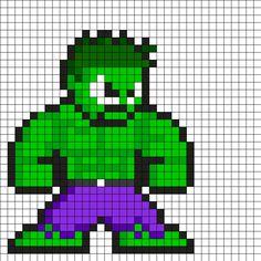 Hulk Perler Bead Pattern