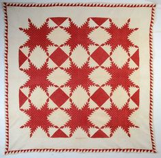 Feathered Stars Quilt: Circa 1830