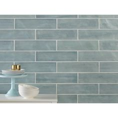 Seaside Polished Ceramic Tile - 4 x 16 - 100467729 Polished Porcelain Tiles, Porcelain Ceramics, Ceramic Tile Bathrooms, Bathroom Tiling, Bathroom Interior, Kitchen Flooring, Laminate Flooring, Kitchen Tile, Vinyl Flooring