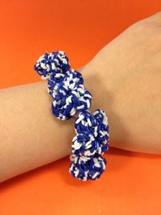 Blue and white #bandaloom bracelet!