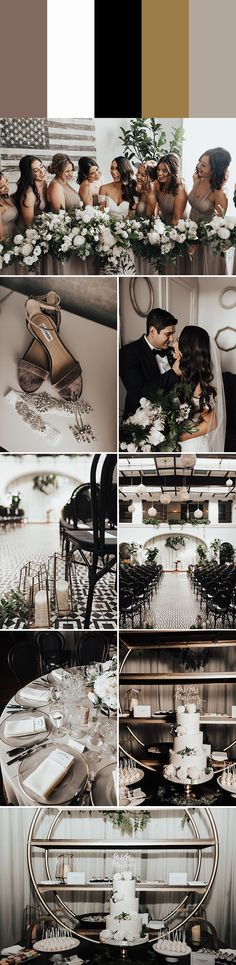 Choose one of these metallic wedding color palettes including gold, copper, silver, and more to add a little sparkle to your wedding day! Metallic Wedding Colors, Silver Wedding Shoes, Wedding White, Wedding Day Tips, Wedding Planning, Dream Wedding, Trendy Wedding, Wedding Ideas, Wedding Venues