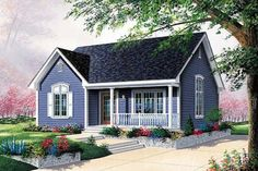 Cottage Exterior - Front Elevation Plan #23-108
