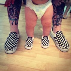 daddy, son, matching shoes
