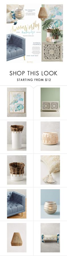 """""""# Anthropologie"""" by eyesondesign ❤ liked on Polyvore featuring interior, interiors, interior design, home, home decor, interior decorating, Sara Brown, Anthropologie, Kenroy Home and anthropologie"""