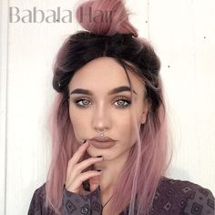 Hair, pastel pink ombre hair, dyed hair pink, dyed black hair, past Coloured Hair, Dye My Hair, Ombre Hair Color, Balayage Color, Dark Hair, Dark Pastel Hair, Dark Roots Hair, Blonde Hair, Emo Hair