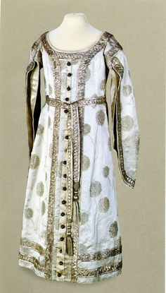 Court dress that belonged to either Olga or Tatiana, dated 1904 and worn to Alexei's christening