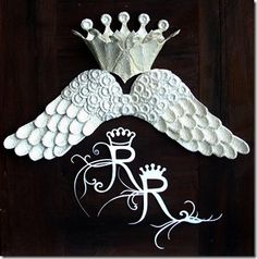 tutorial for making these wings and crown from a cardboard egg carton