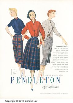 Vogue Sep 15, 1954 Pendleton